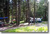 tent camping in montana